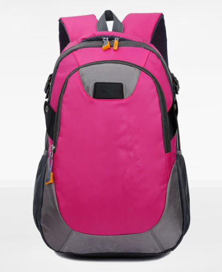 New Outdoor Korean Sports Backpack Women′s Stylish Waterproof High-Capacity  Travel Double Shoulder Bag Male Mountaineering Bag Rose Red e30ed0698128f