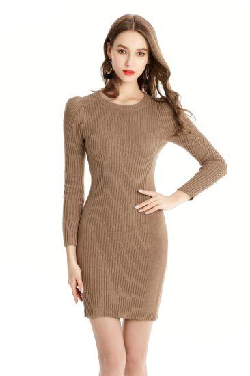 Women's MID-Length Knitwear Slim Fit Casual Dress Fashion Sweater