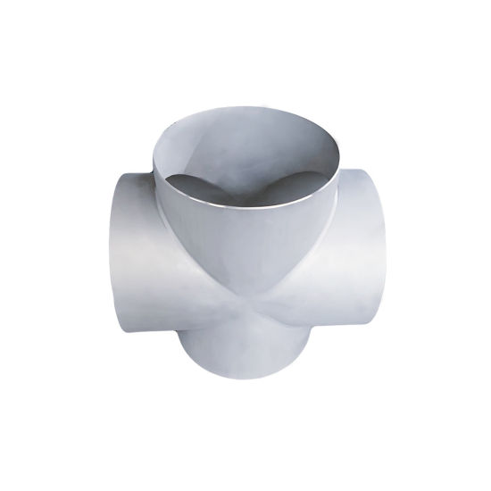 Ss 304 Industrial Rolling Sand Pipe Fittings 4-Way Welding Equal Cross