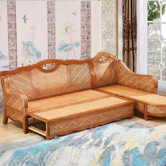 China Rattan Wooden Furniture, Sofa Bed Modern Design