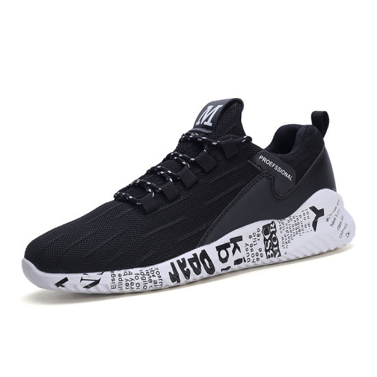 2020 New Design Breathable Flyknit Casual Shoe
