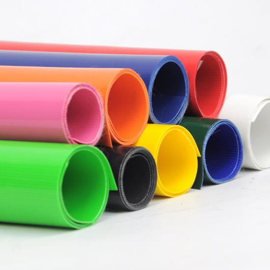 PVC Vinyl Block out Waterproof Fabric Mesh Fabric Tarpaulin Fabric for Tent Truck Boat Cover Water Tank Tarpaulin