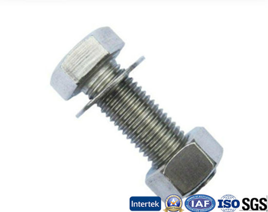 Stainless Steel Heavy Hex Bolt with Nut and Washer