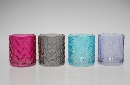 7.5oz/ 140ml Samll Volume Glass Candle Holders Glass Candlestick Glass Container for Candles Glass Mason Jar Glass Tealight