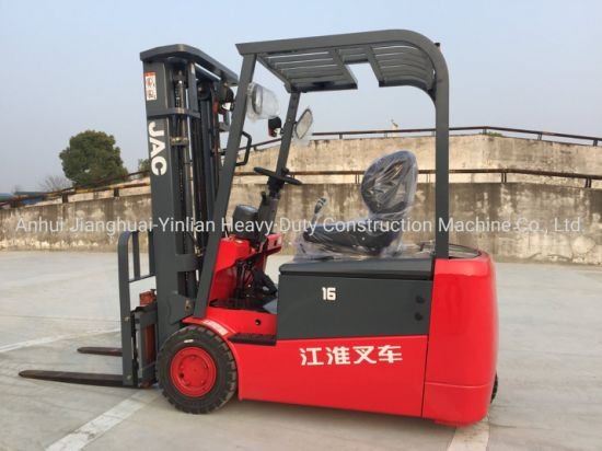 JAC 1.6t Three Wheels Battery Forklift/Electric Forklift/Forklift Truck/Cpd16SA3