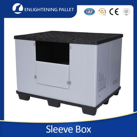 1100*1000 Wholesale Industrial Customized Collapsible Heavy Duty Corrugated Liner Plastic Folding Pallet Sleeve Box for Goods Turnover