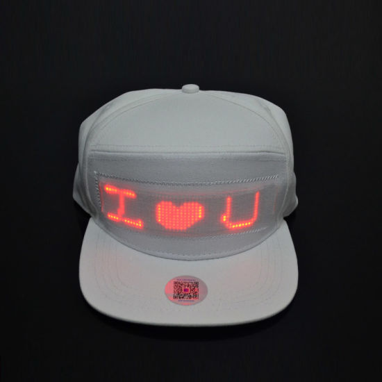 China Linli Advertising Usb Charging App Controlled Scrolling Message Display Led Hat Flashing Magic Cap Light Hat China Led Hat And Flashing Hat Price