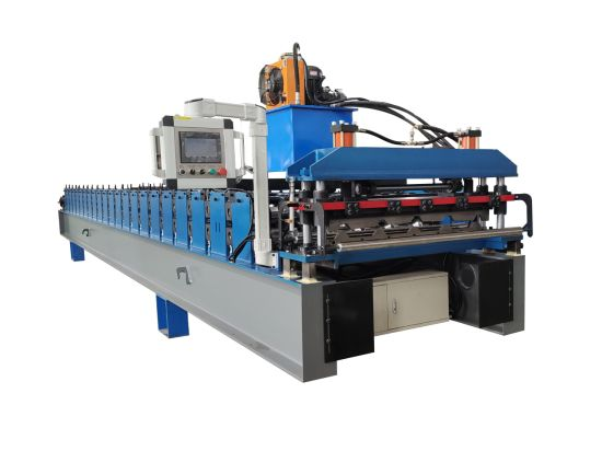 Direct Factory Automatic Trapezoidal Roofing Sheet Rib Type Plate Ibr Box Profile Roof Tile Panel Making Roll Forming Machine Machinery Production Line