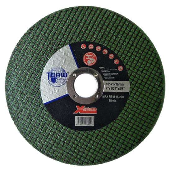 """Aluminum Oxide Grains 4.5"""" Inch/115 mm Maximum 13300 R. P. M Inox Cutting Disc Wheel for Stainless Steel"""