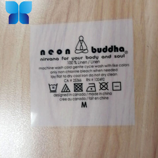 Customized Plastic Iron on Adhesive Sticker Label Transfer to Cloth