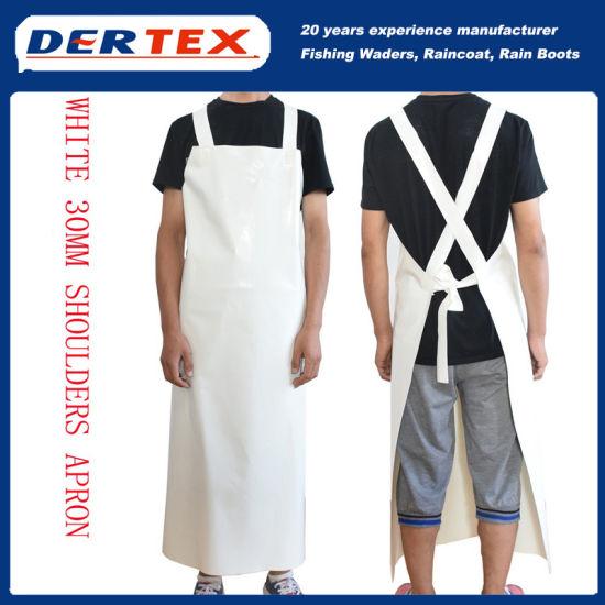 PVC Apron Waterproof Heavy Duty Work Protective Industrial Kitchen Butcher White