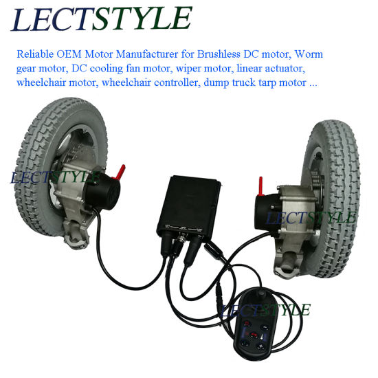 China Electric DC Brushless Wheelchair Motor with Controller