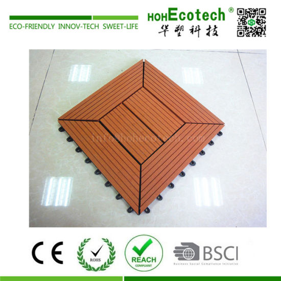 300x300mm 400x400mm WPC Wood Plastic Composite Decking pictures & photos