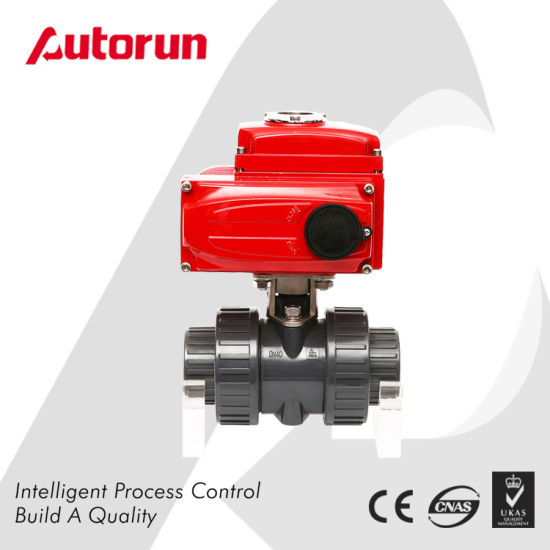 Wenzhou Supplier PVC Ball Valve with Electrical Actuator pictures & photos