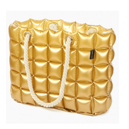 Gold Color PVC or TPU Inflatable Bubble Handbags for Beach or Camping pictures & photos