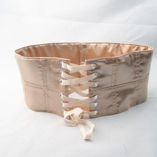 Adjustable Nude Satin Fabric Belt pictures & photos