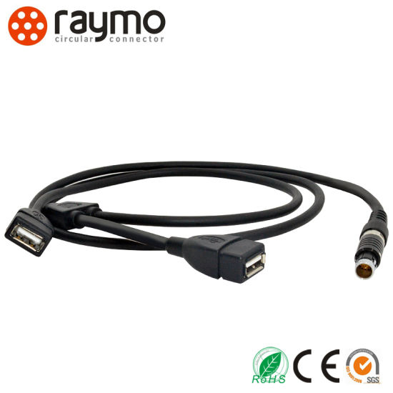 dB9 RS232 to D-Tap Audio Video Male Connector with Cable Assembly pictures & photos