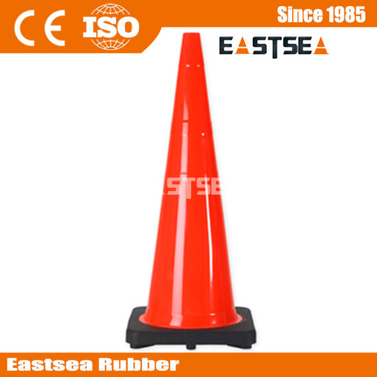 Orange Color 28inch Reflective PVC Plastic Road Safety Cone pictures & photos
