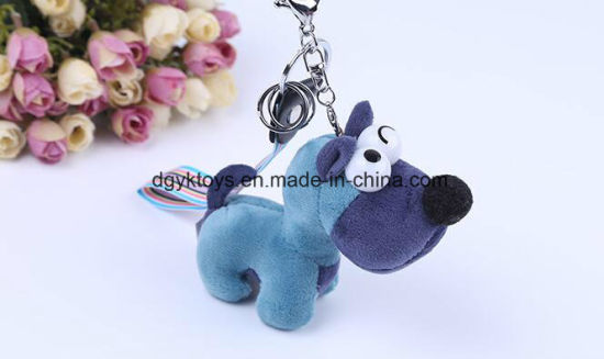 Different Color Plush Animal Keychain pictures & photos