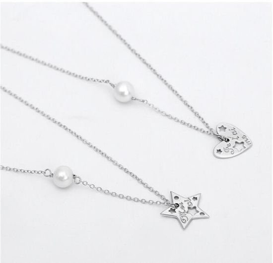 2017 Fashion Heart Pendant Necklace Sets with CZ Stones pictures & photos