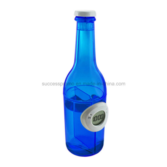 Bottle Shaped Water Powered Clock, Customized Logo Is Accepted