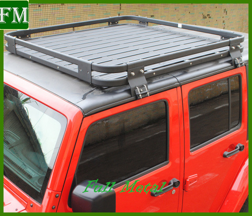 07-16 Aluminium Roof Rack for Jeep Wrangler 2/4 Doors pictures & photos