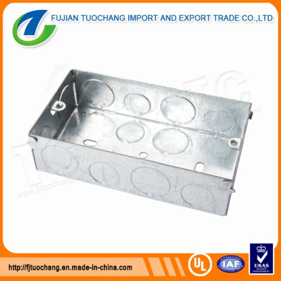 Marvelous China Galvanized Steel 3X3 Electric Conduit Box China Conduit Box Wiring Cloud Staixuggs Outletorg