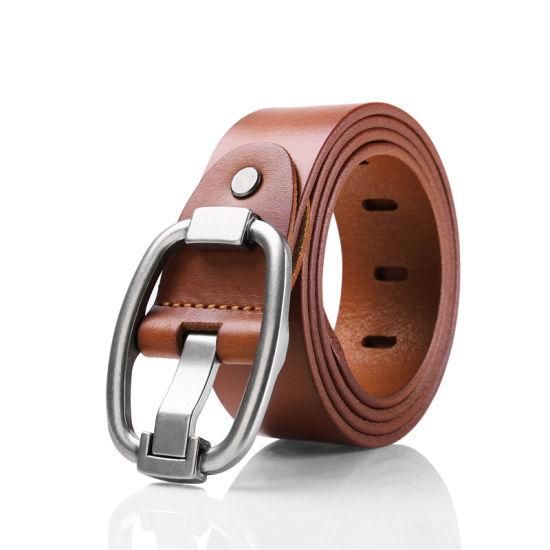 100% Cowhide Genuine Leather Belts for Men Pin Buckle Vintage Cowboy Belt