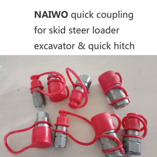 """3/4"""" NPT 1/2 Body Flat Face Quick Couplings ISO 16028"""