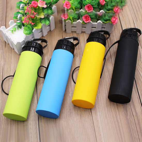 Drinking Plastic Water Bottle Silicone Foldable Sports Cups Collapsible Water Bottle Bc103