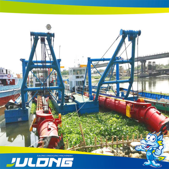 Fully Assembled and Fully Operational Cutter Suction River Sand Dredgers
