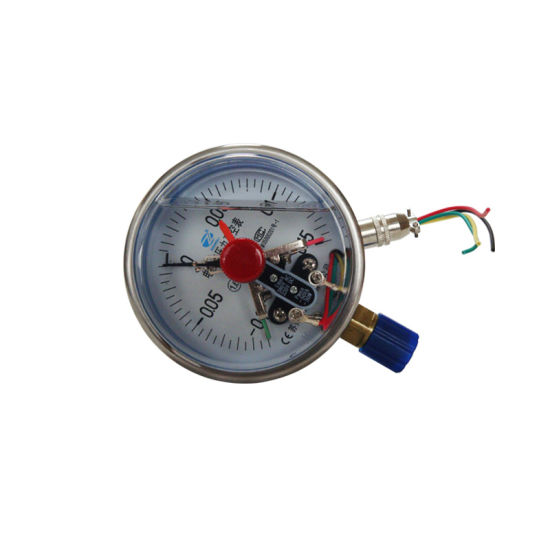 "100mm 4"" Ss Electric Contact Liquid Filled Pressure Gauge"