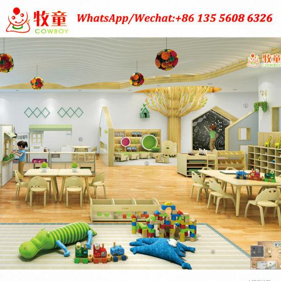 Kindergarten Furniture Factory Supply Birch Wood Montessori School Furntiure for Sale