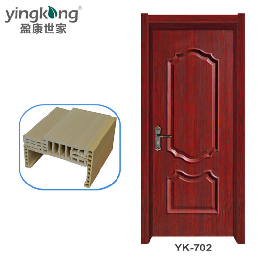 China Pvc Bathroom And Toilet Use Wpc Frame And Doors With Architraves 702 China Composite Door Composite Wooden Door