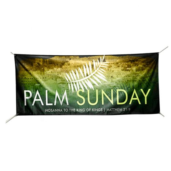 Custom Digital Printing Large Size Outdoor Hanging Advertising Polyester Fabric Banner pictures & photos