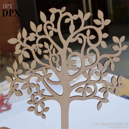 Decoration Home Decoration Christmas Decoration Wood Crafts Blank Wooden Tree Embellishments for DIY Crafts Embellishments pictures & photos