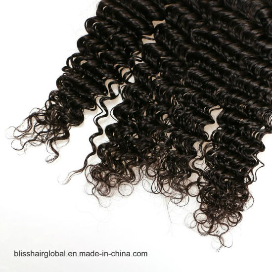 "Bliss Brazilian Plus Deep Wave 10""-30"" Wholesale Price Dyeable Virgin Brazilian Deep Wave Curly Hair pictures & photos"