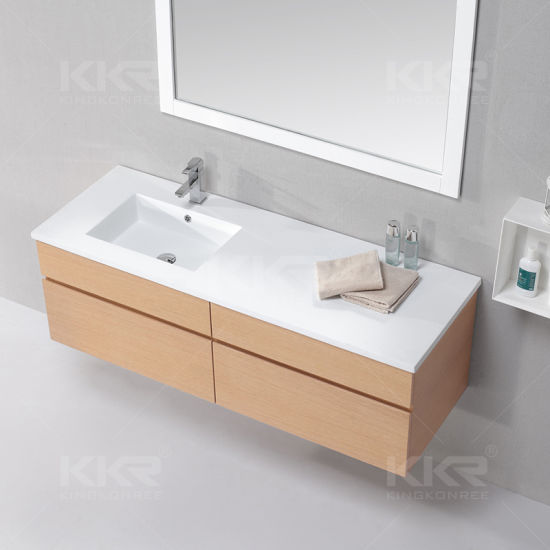 Us Style Solid Surface Bathroom Vanity Basin with Cupc