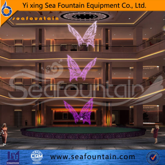 European Style LED Light Decorative Digital Water Curtain Fountain pictures & photos