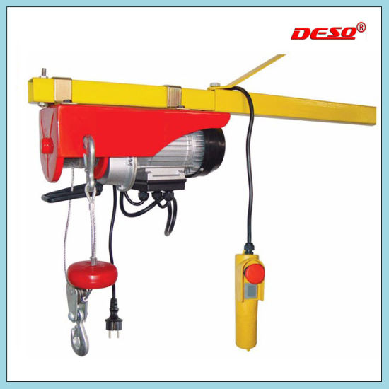 Portable Mini Electric Motor Lifting Wire Rope Hoist pictures & photos