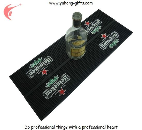 Soft PVC Non-Slip Bar Drinking Mat for Promotion (YH-BM038) pictures & photos