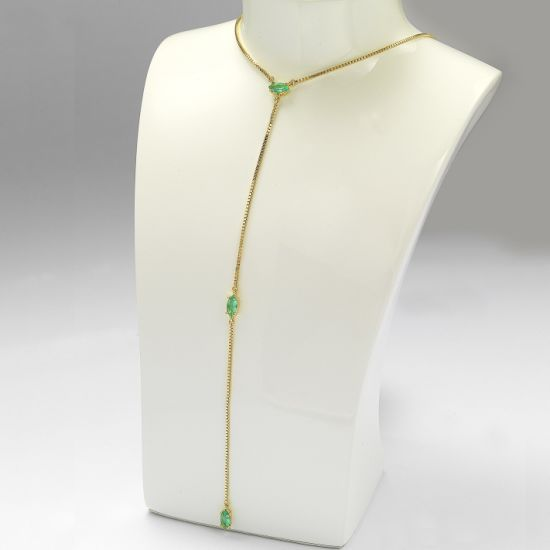 Attractive Design 925 Silver Fashion Jewelry Long Necklace for Gift