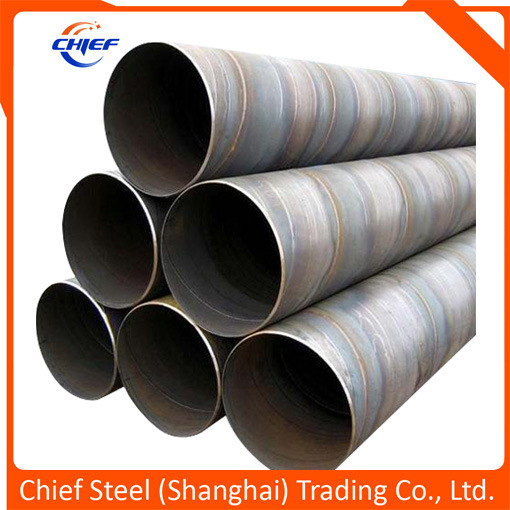 Helical Submerged Arc Welded Carbon Steel Pipe with Long Length as Water Pipeline, Oil/ Gas / Piling Pipes API5l / ASTM A252 / ASTM A53 / En10219 / As1163