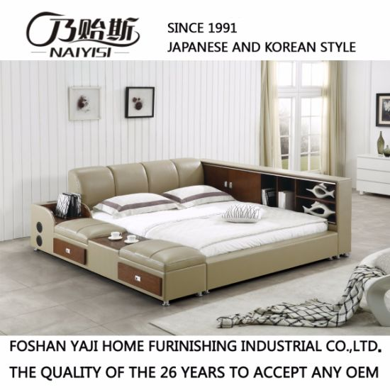 2017 Latest Design Leather Bed for Bedroom Set Furniture /Fb8048b pictures & photos