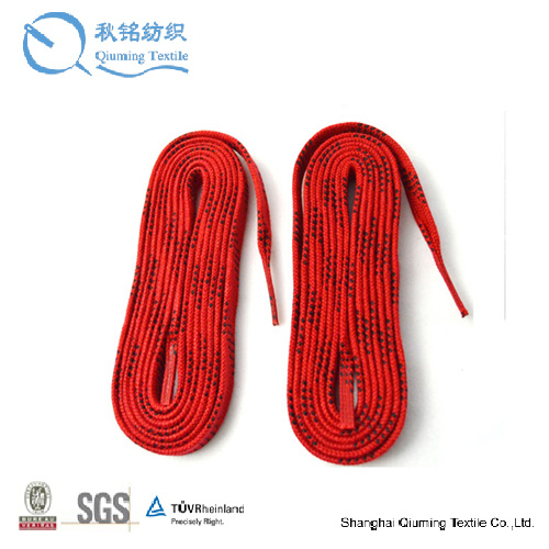 100% Flat Cotton Cord Braided Hockey Skate Lace with Metal Aglet pictures & photos