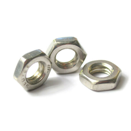 Carbon Steel Stainless Steel DIN Hex Jam Nuts pictures & photos