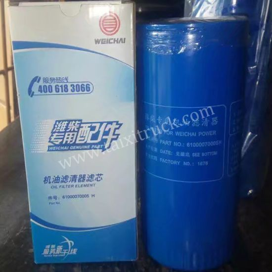 HOWO 61000070005 Oil Filter for Sinotruk, Weichai Engine Truck Spare Parts pictures & photos