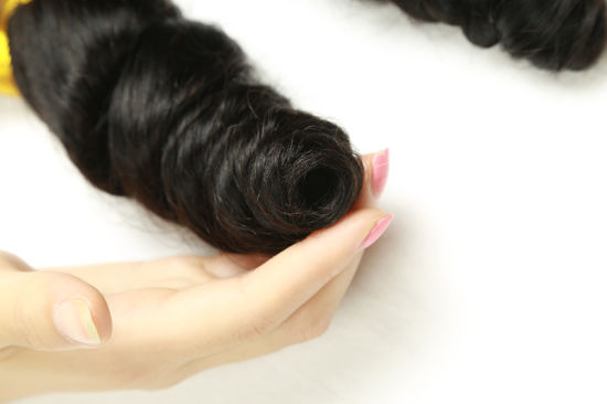 Brazilian Human Hair Loose Wave Hair Extension Virgin Human Hair pictures & photos