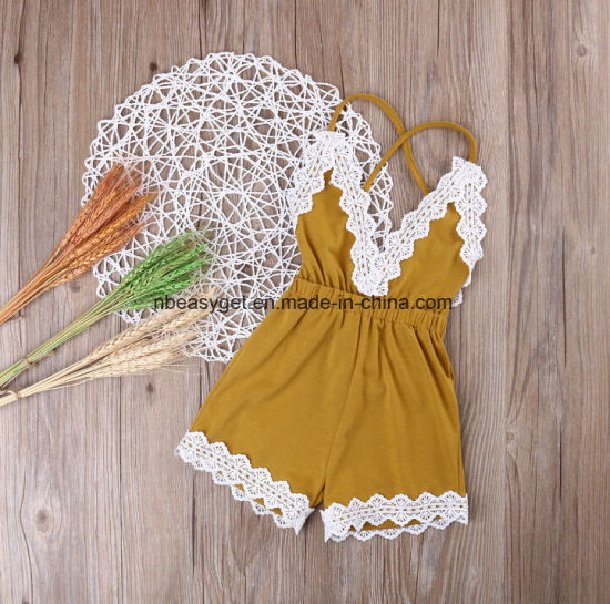 0f130c24a China Baby Girls Halter One-Pieces Romper Jumpsuit Sunsuit Outfit ...