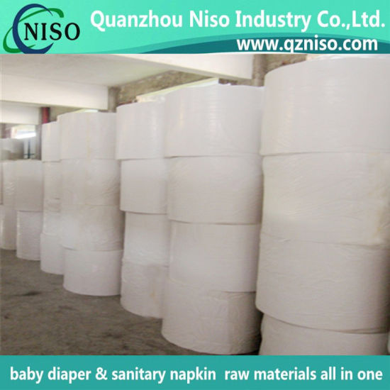 Carrier Tissue for Wrapping Jumbol Roll, Sanitary Napkin Raw Material, Baby Diaper Raw Materials with SGS